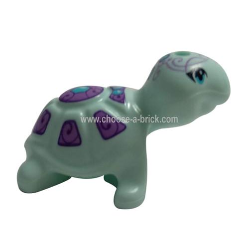 Turtle Light Aqua - LEGO Minifigure Animals