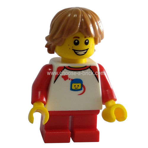 Boy with White Classic Space Shirt - LEGO Minifigure City