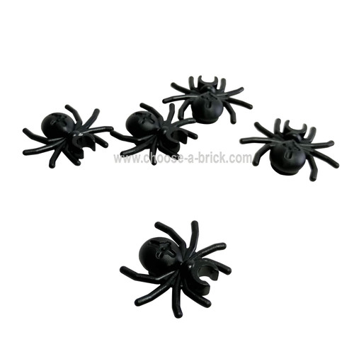 Spider with Round Abdomen and Clip black - LEGO Parts and pieces
