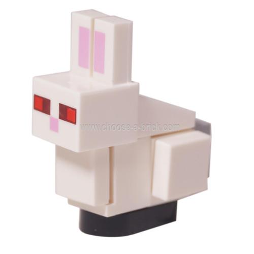 Minecraft rabbit , white - LEGO Minifigure Mnecraft