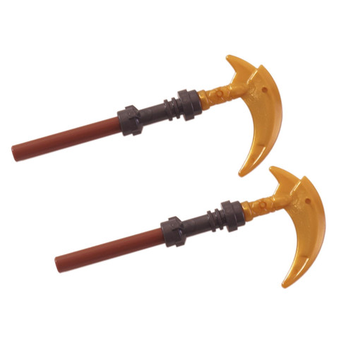 2 LEGO Ninjago Spears with hook