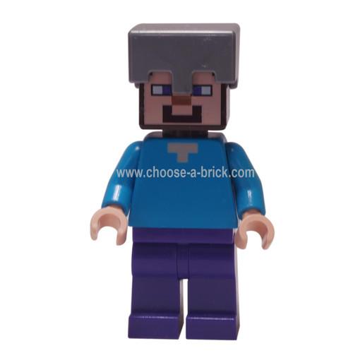 LEGO Minifigure -Steve - iron helmet