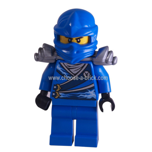 LEGO Minifigure -  Jay - Rebooted with Silver Armor