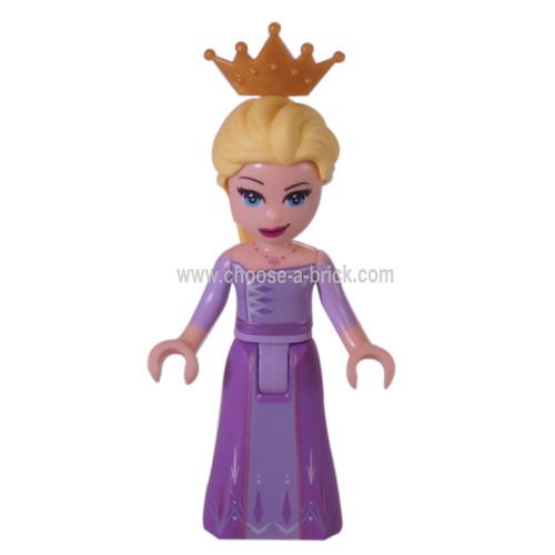 LEGO Minifigure - Queen Elsa with cronw lavender dress - frozen II
