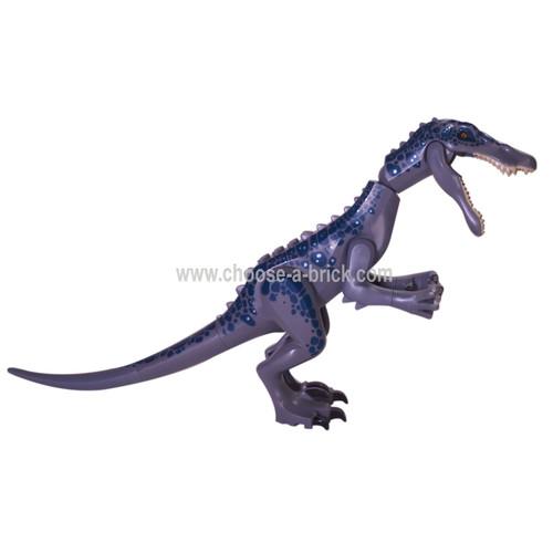 LEGO Minfigure - Dinosaur, Baryonyx with Dark Blue and Metallic Blue Spots