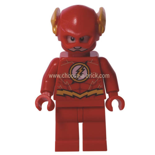 LEGO Minifigure - The Flash - Gold Outlines on Chest