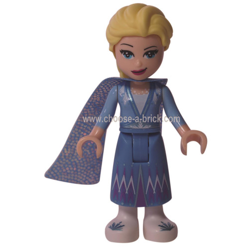 LEGO Miifigure - Elsa - Glitter Cape with Two Tails, Medium Blue Skirt with White Shoes