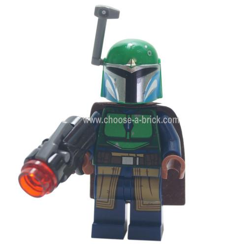 LEGO Minifigure - Mandalorian Warrior - Female, Dark Blue with blaster