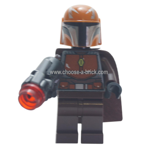 LEGO Minifigure - Mandalorian Warrior - Male, Dark Brown with blaster