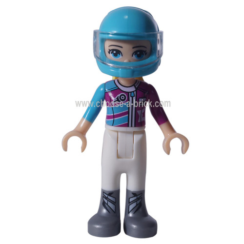 LEGO Minifigure - Friends Stephanie, racing car helmet