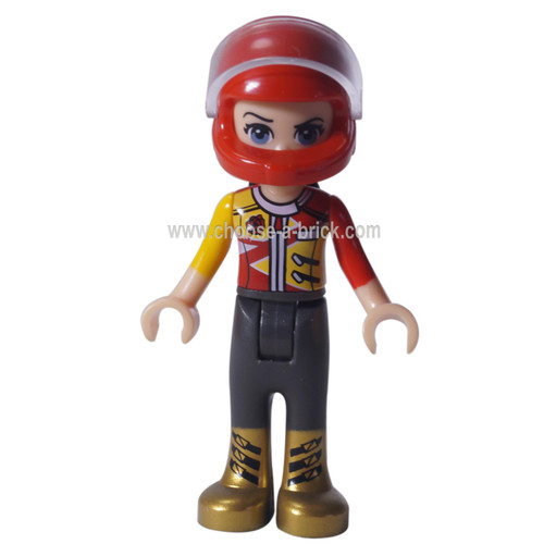 LEGO Minifigure - Friends Vicky, racing car helmet