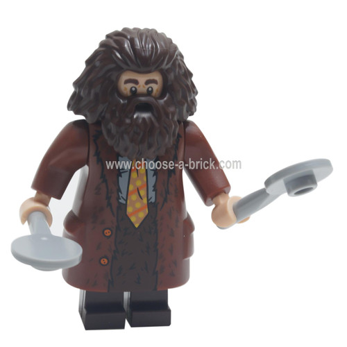LEGO Minifigure - Rubeus Hagrid, Reddish Brown Topcoat with Buttons