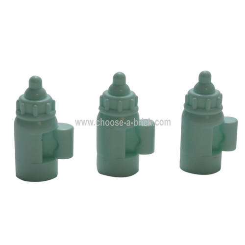 LEGO Parts -  Light Aqua Minifig, Utensil Baby Bottle with Handle