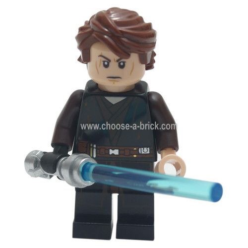 Anakin Skywalker (Dirt Stains) with light saber - LEGO Minifigure Star Wars