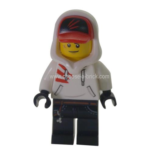 LEGO MInifigure - Jack Davids - White Hoodie  - hidden site