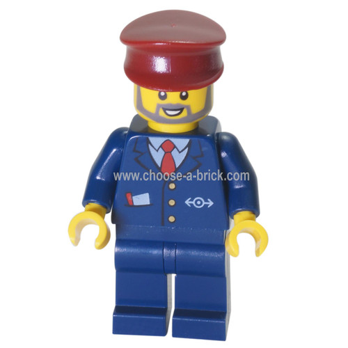 LEGO Minifigure -  train conductor
