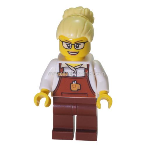 LEGO Minifigure -  coffee seller