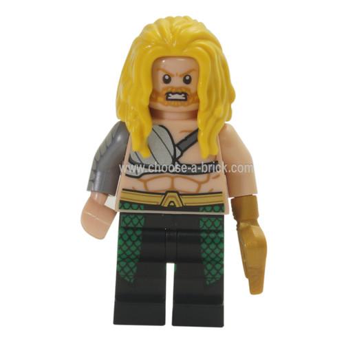 LEGO Minifigure -  Aquaman, Long Yellow Hair, Hook Hand