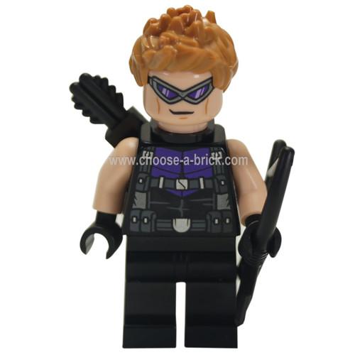 Hawkeye - Black and Dark Purple Suit - LEGO Minifigure