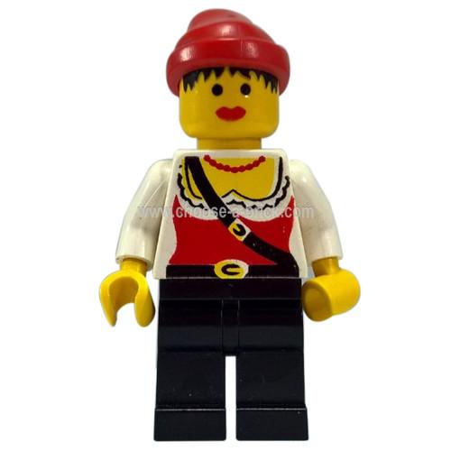 LEGO Minifigure - Pirate Female, Black Legs, Red Bandana