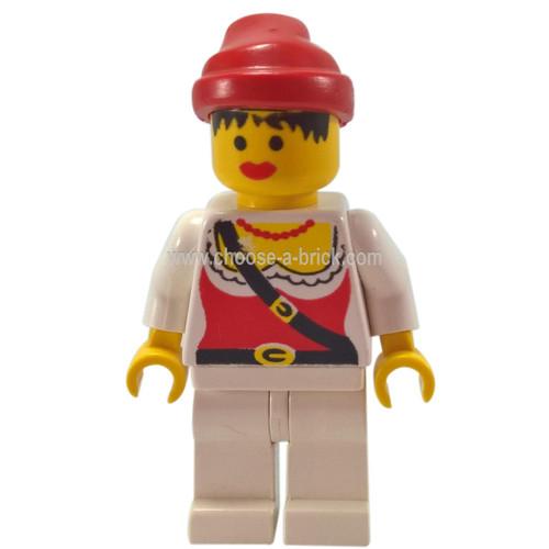 LEGO Minifigure - Pirate Female, White Legs, Red Bandana