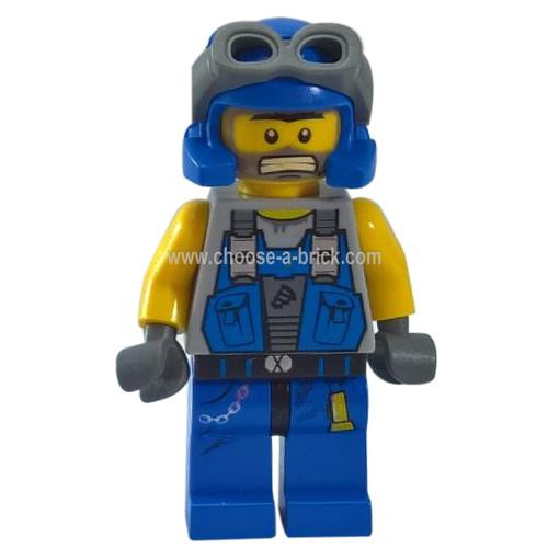 LEGO Minifigure - Power Miner - Duke Bare Arms