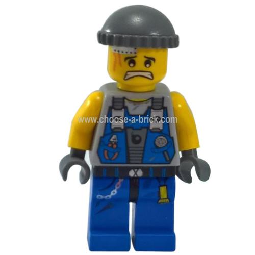 LEGO Minifigure - Power Miner - Engineer, Knit Cap