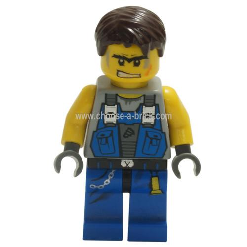 LEGO Minifigure - Power Miner - Orange Scar Hair