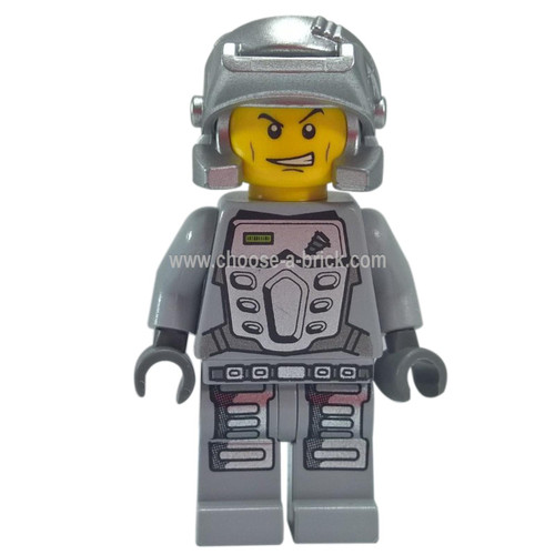 LEGO Minifigure - Power Miner - Doc Gray Outfit