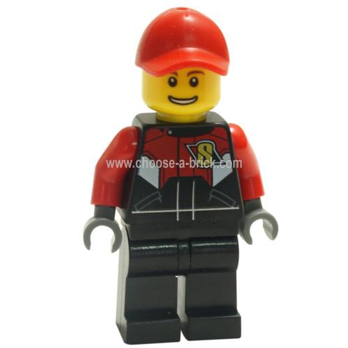 LEGO Minifigure - Racing Team 1, Red Cap