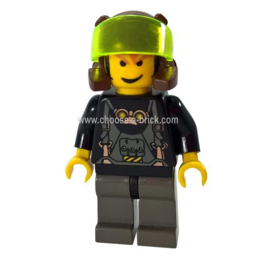 LEGO Minifigure - Axel - Trans-Neon Green Visor