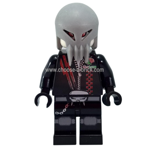 LEGO Minifigure -  Space Police 3 Alien - Skull Twin