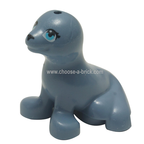 LEGO MInifigure - Seal, Friends with Black Nose and Medium Azure Eyes Pattern