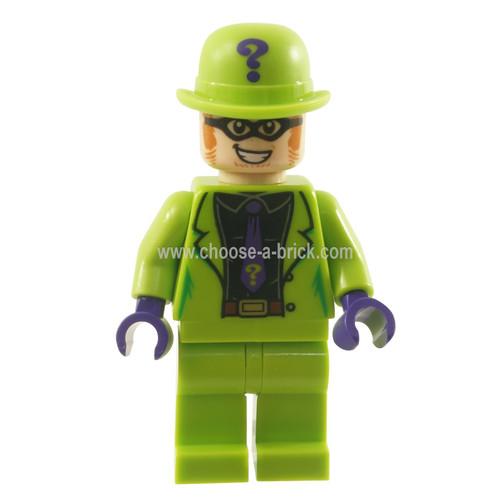 LEGO MInifigure -  The Riddler - Black Shirt and Dark Purple Tie