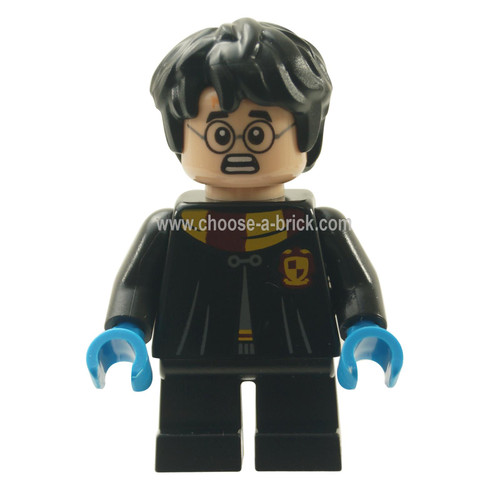 LEGO MInifigure - Harry Potter, Black Torso Gryffindor Robe, Black Short Legs