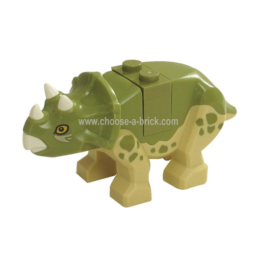 LEGO MInifigure -Dinosaur, Triceratops Baby with Brick and Plate