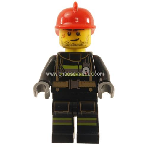 LEGO Minifigures - Fire - Reflective Stripes