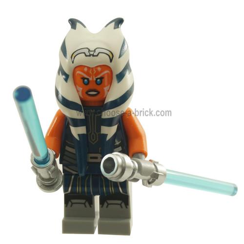 LEGO Minifigure - Ahsoka Tano Adult - Dark Blue Jumpsuit with weapon