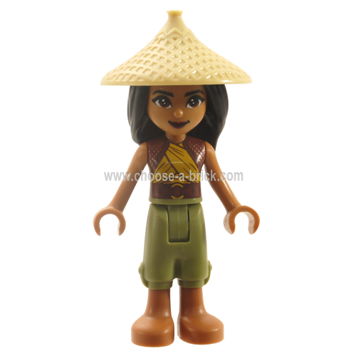 Raya - Tan Conical Hat with weapon