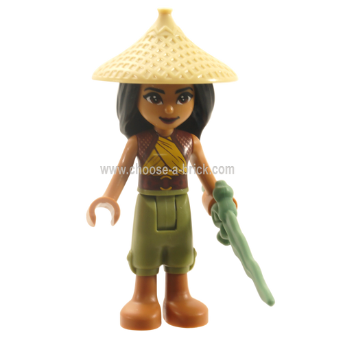 LEGO Disney - Raya - Tan Conical Hat with weapon