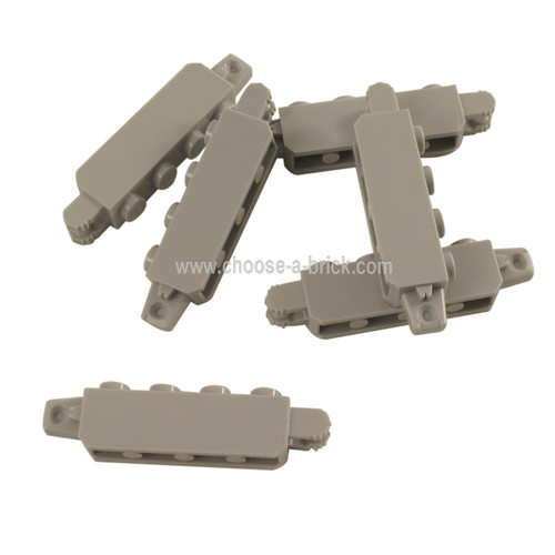 LEGO Parts - Hinge Brick 1 x 4 Locking with 1 Finger Vertical End and 2 Fingers Vertical End, 7 Teeth