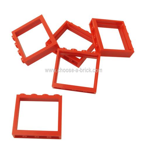 Window 1 x 4 x 3 - No Shutter Tabs red