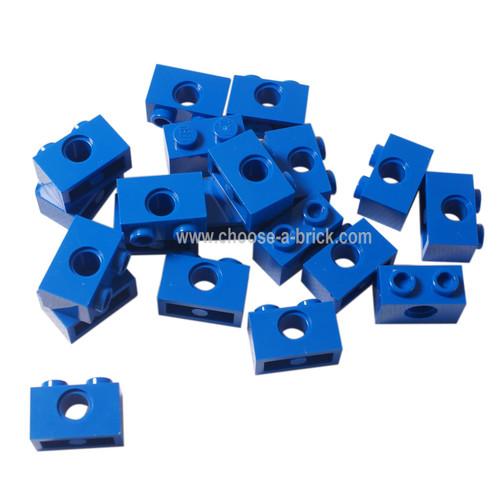 Technic, Brick 1 x 2 with Hole blue