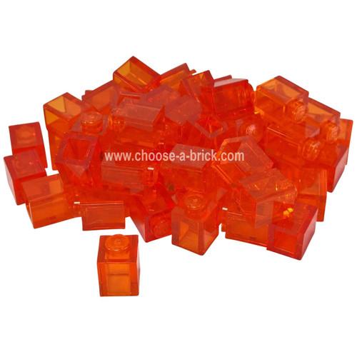 Brick 1 x 1 trans-orange