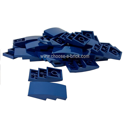 Slope, Curved 4 x 2 No Studs dark blue