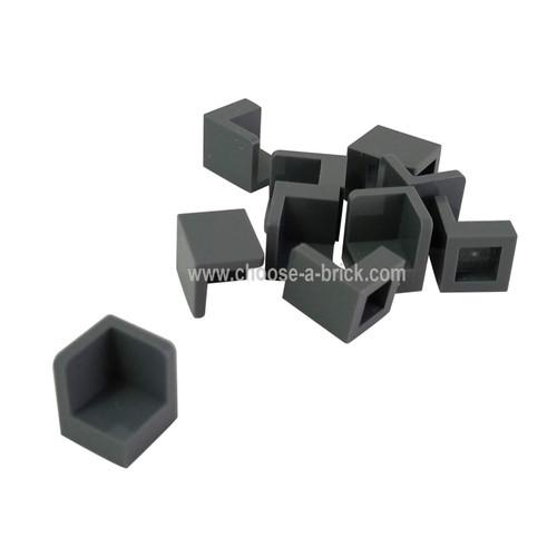 Panel 1 x 1 x 1 Corner dark bluish gray