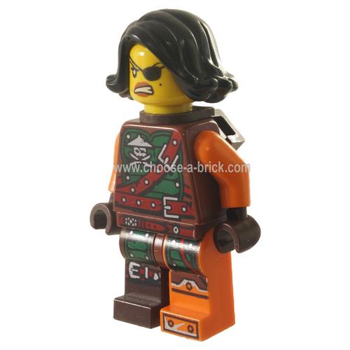 LEGO Minifigure Ninjago -  Cyren - Belt Outfit, Scabbard