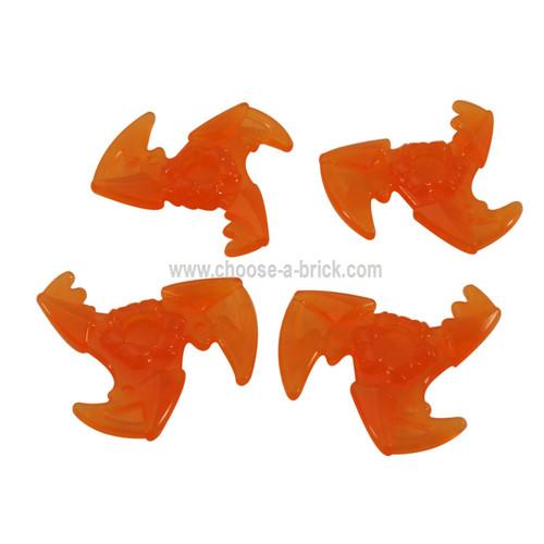Minifigure, Weapon Shuriken with Trailing Energy Effect trans orange