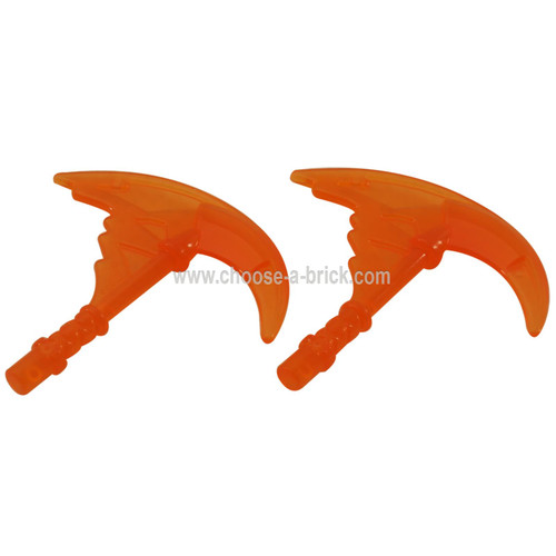 Minifigure, Weapon Sickle with Trailing Energy Effect tran orange