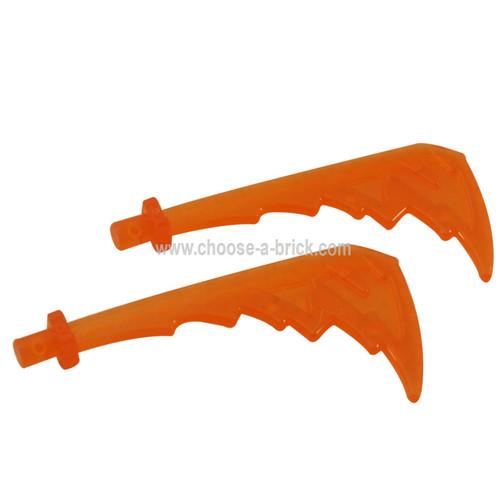 Minifigure, Weapon Katana with Trailing Energy Effect trans orange